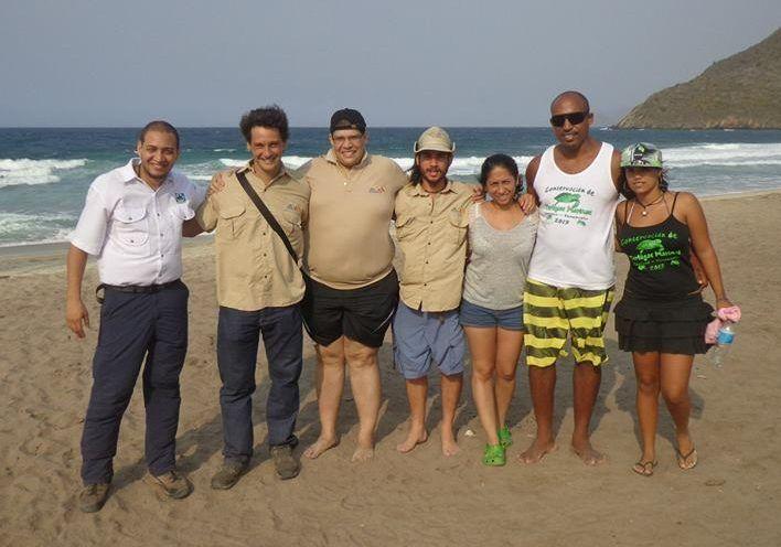 Con miembros de Ecodiversa y comunidad local en cuyagua